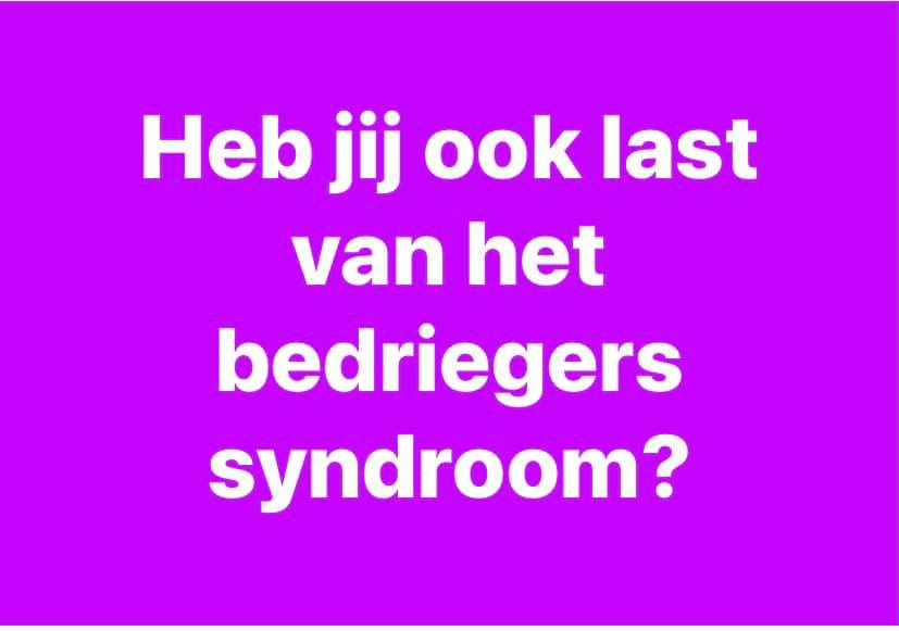 bedriegers syndroom imposter